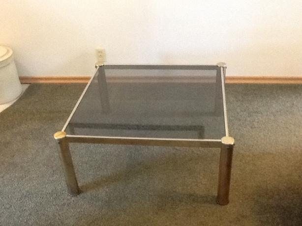Smokey glass top coffee table south regina regina mobile Used glass coffee table