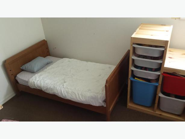 ikea leksvik baby crib with sleeptek organic cotton