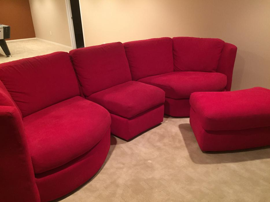Modern red sectional sofa south regina regina for Used modern sectional sofa
