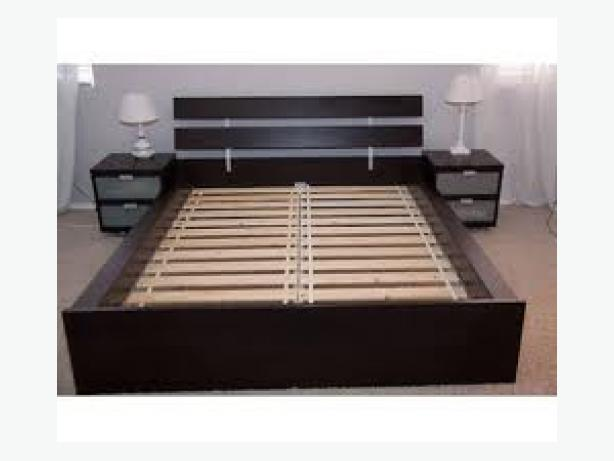 moving sale ikea hopen queen bed frame saanich victoria. Black Bedroom Furniture Sets. Home Design Ideas