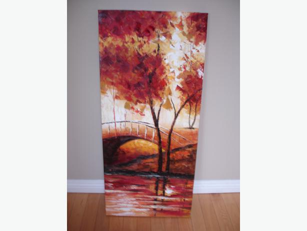 Nice original fall sceneray acrylic painting on deluxe for Nice acrylic paintings