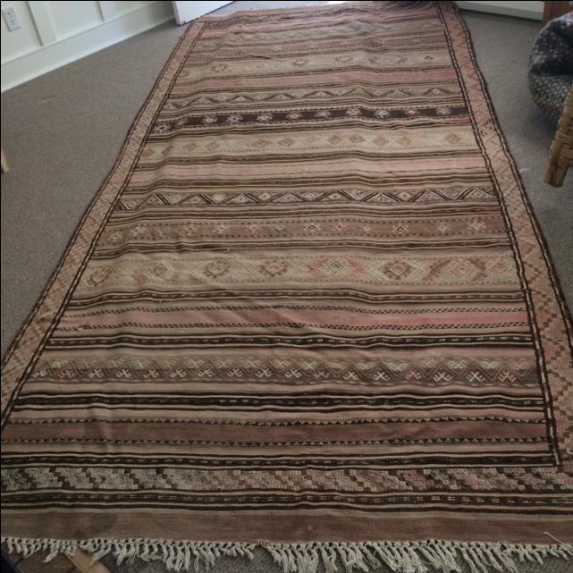Antique Kilim Carpet Oak Bay Victoria Mobile