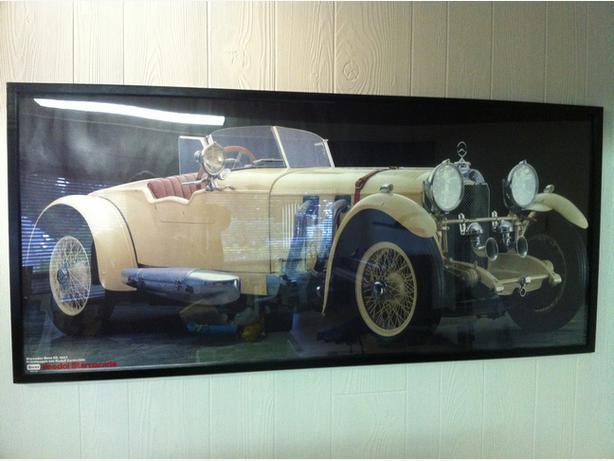 framed classic car posters mb ss 1927 talbot 1948 saanich