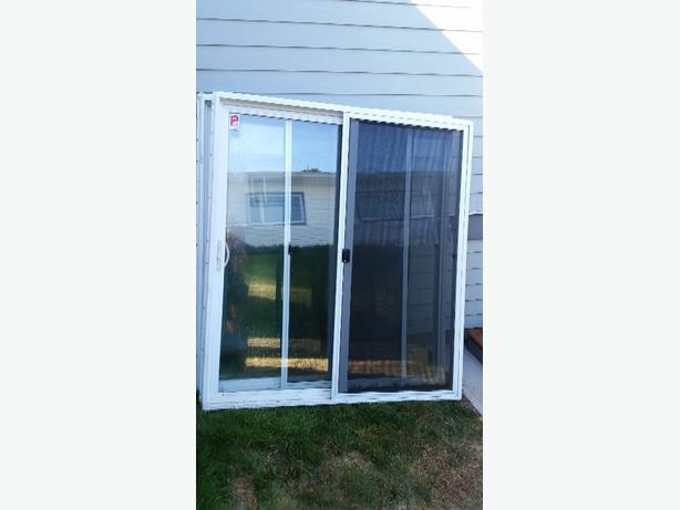 white vinyl patio sliding glass door 6 foot wide