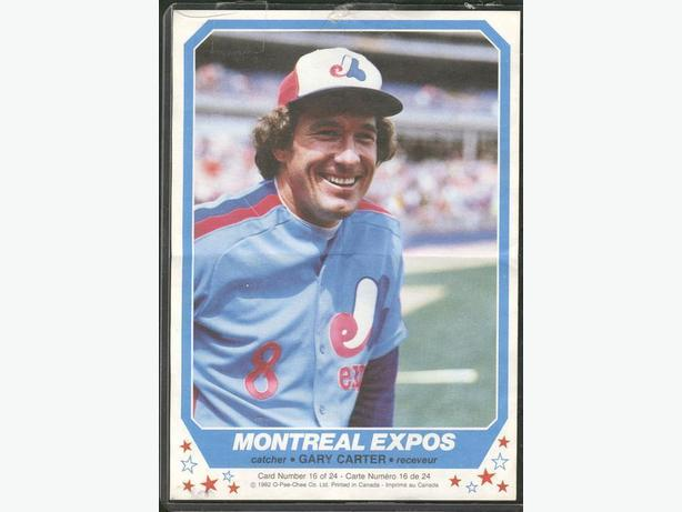 Gary Carter Lot Montreal Expos