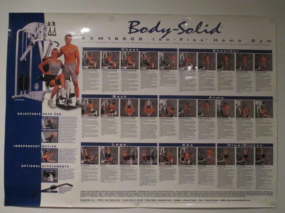 Body solid exm home gym with leg press north saanich