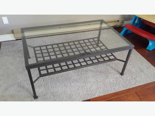 ikea granas coffee table - glass top parksville, nanaimo