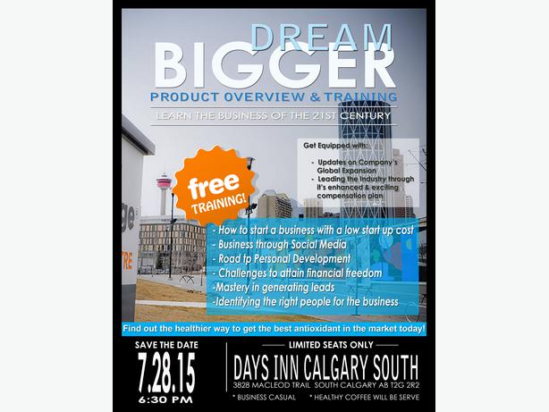 Free Opportunity Event South East Calgary