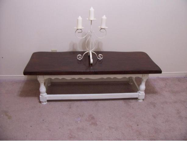 Rustic Chic Large White Coffee Table For Sale I Deliver Gloucester Ottawa