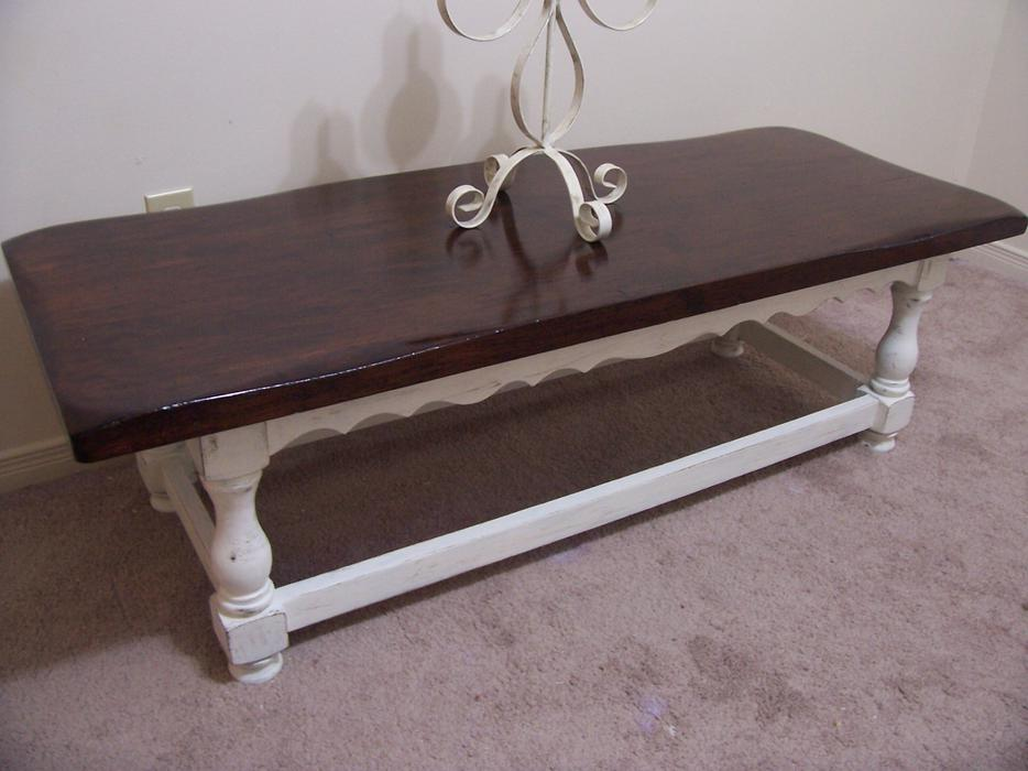 Rustic chic large white coffee table for sale i deliver for Coffee tables ottawa