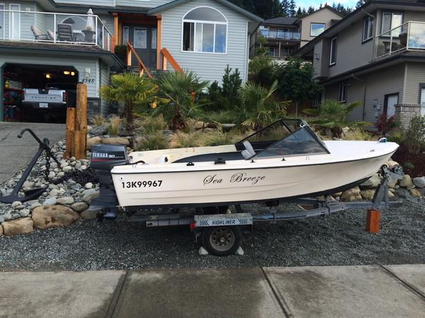 16 ft fg fishing boat with galvanized trailer and yamaha for 16 ft fishing boat