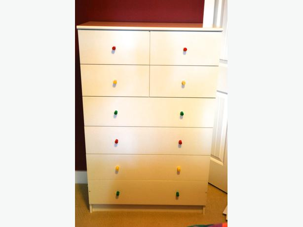 ikea white 8 dresser drawers 2 for sale saanich victoria