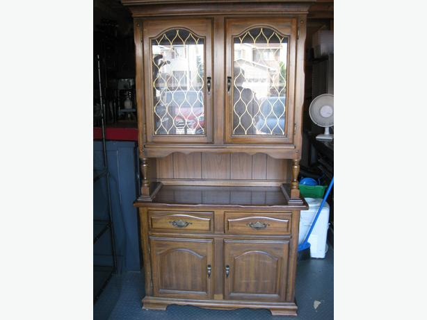 log in needed 200 vintage dining room hutch and glass cabinet