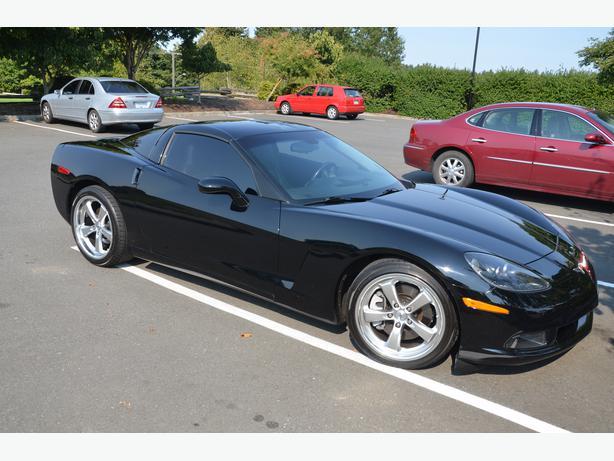 2oo5 C6 Corvette Six Speed Manual Black On Black Saanich
