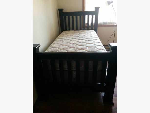 Single bed all wood frame nice bed west shore langford for Nice bed frames