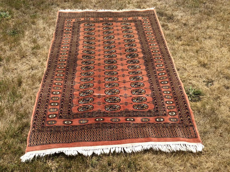 6 By 4 Handwoven Wool Bokhara Persian Rug Tekke Tribe