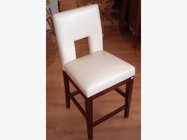 Modern comfortable white counter height dining chair for Comfortable modern dining chairs