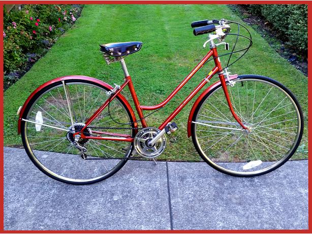 Vintage 1981 Schwinn 34 World Tourist 34 5 Speed Commuter Bike