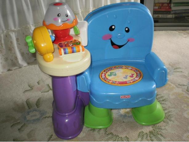 FISHER PRICE LAUGH & LEARN SONGS & STORIES MUSICAL FRENCH LEARNING CHAIR