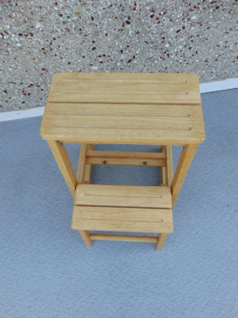 Solid wood step stool adult perfect for kids kitchen or
