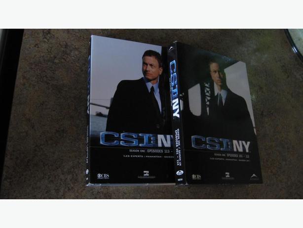 Battle Star Gallactica 5 disk set....CSI NY Season One