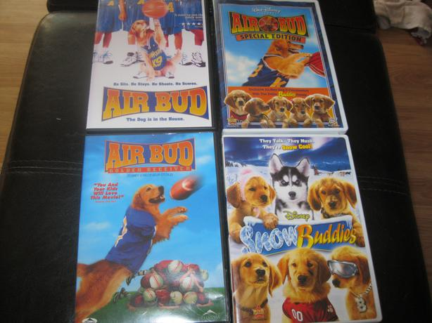 4 DVD - DISNEYS AIR BUDs movies - (All 4 for $20)