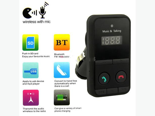 New Wireless Bluetooth Player FM Transmitter with Remote