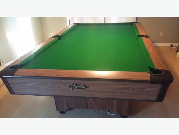 Superb National 4x8 3 Piece Slate Pool Table