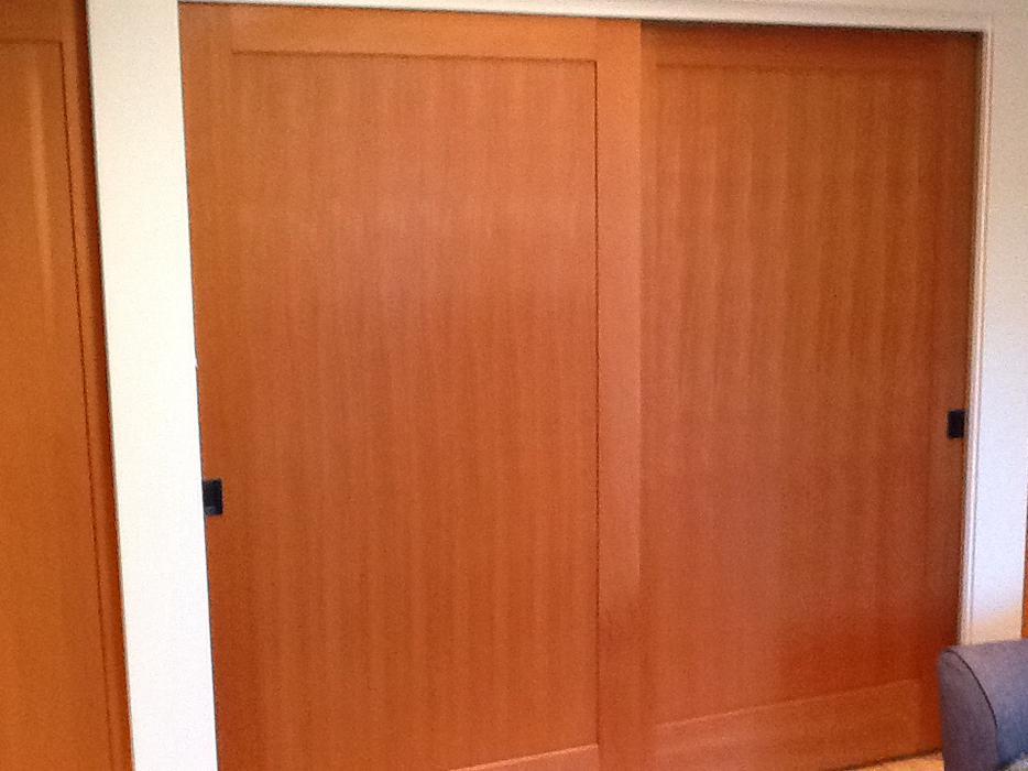 Wood doors - Solid FIR interior double door set Saanich, Victoria - MOBILE