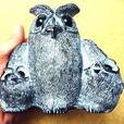 Attention OWL Collectors - 2 Inuit Carvings by NUVUK & WOLF