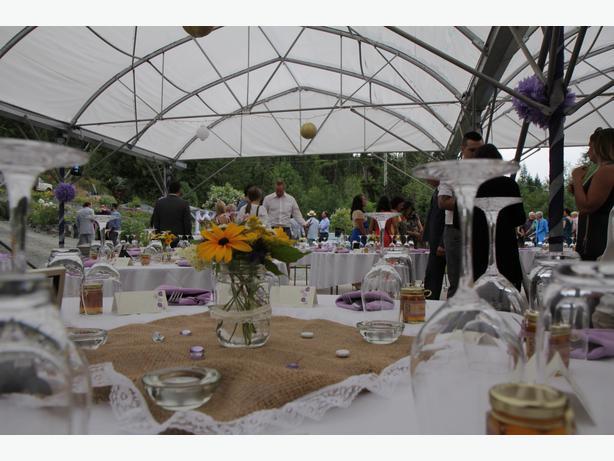Garden Wedding And Reception Venue Includes 2700sqft Party Tent