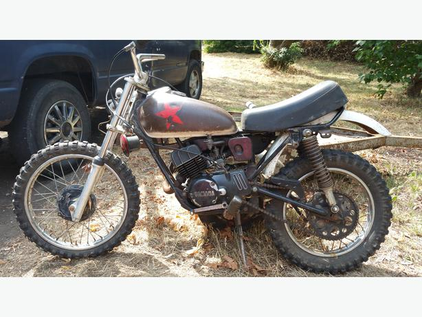old maybe antique yamaha dual dirt bike central nanaimo. Black Bedroom Furniture Sets. Home Design Ideas