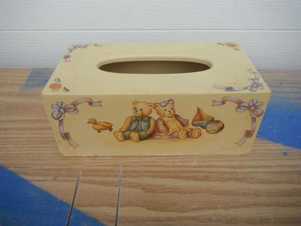 teddy bears tissue box-Duncan
