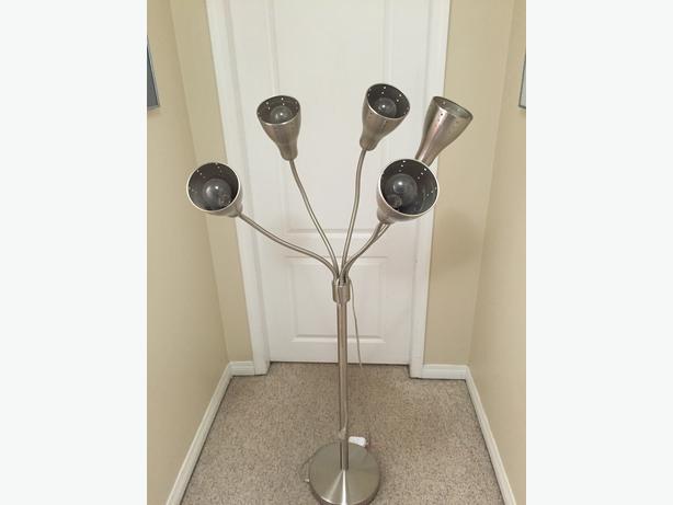log in needed 45 chrome multi head floor lamp. Black Bedroom Furniture Sets. Home Design Ideas