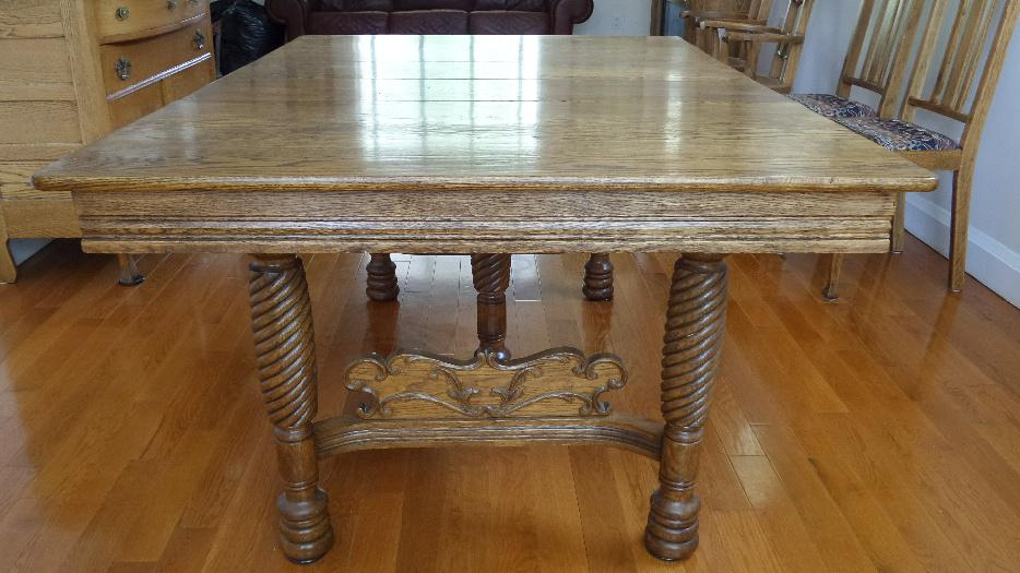Antique Oak Dining Table East York Toronto MOBILE