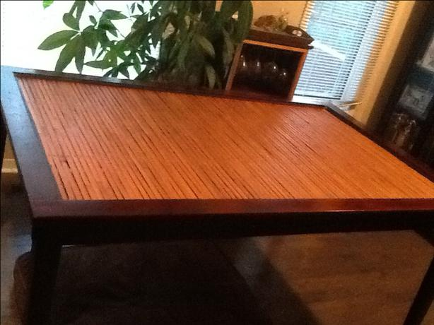 Pier 1 Imports Solid Wood, Bamboo Glass Top Dining Table $395 OBO ...