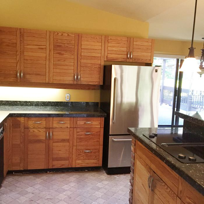 Full kitchen cabinets granite and sink for sale saanich for Kitchen cabinets york region