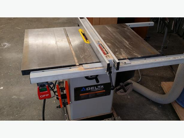 Delta Industrial Table Saw Saanich Victoria