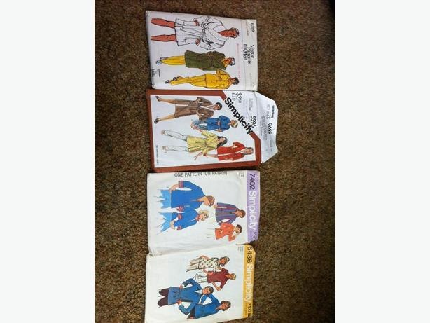 Vintage sewing patterns - housecoats, men's and women's tops