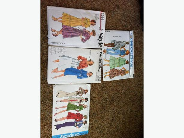 Vintage sewing patterns - ladies dresses and tops