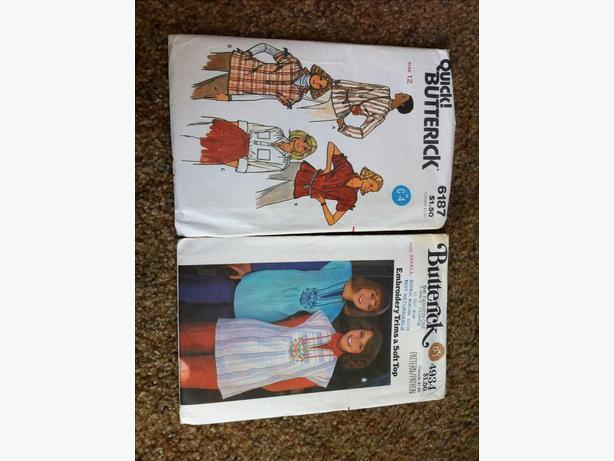 Vintage sewing patterns - ladies casual shirts