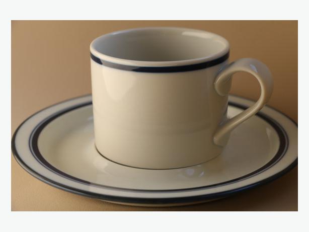 Vintage Dansk Bistro Christenshaven Blue cups and saucers