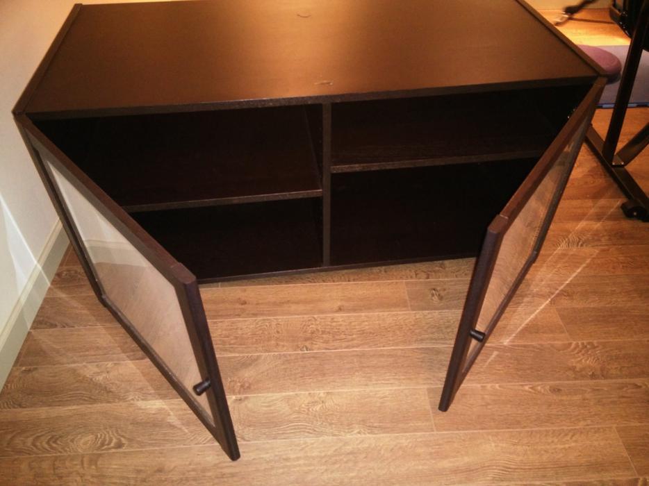 ikea benno black brown tv stand south west calgary. Black Bedroom Furniture Sets. Home Design Ideas