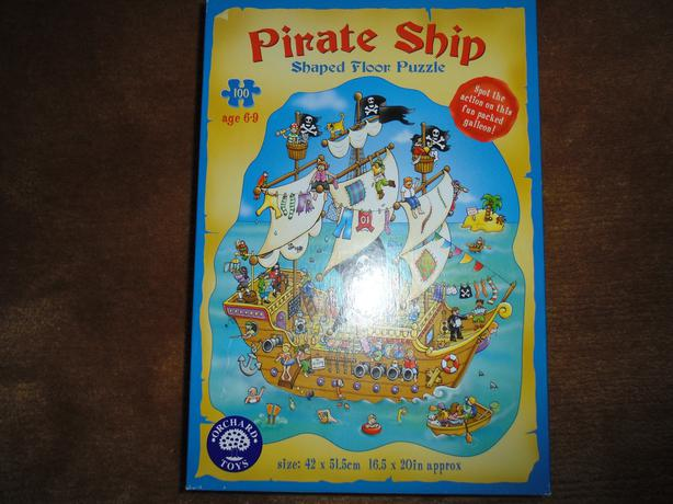 Pirate ship floor puzzle oak bay victoria for 100 piece floor puzzles
