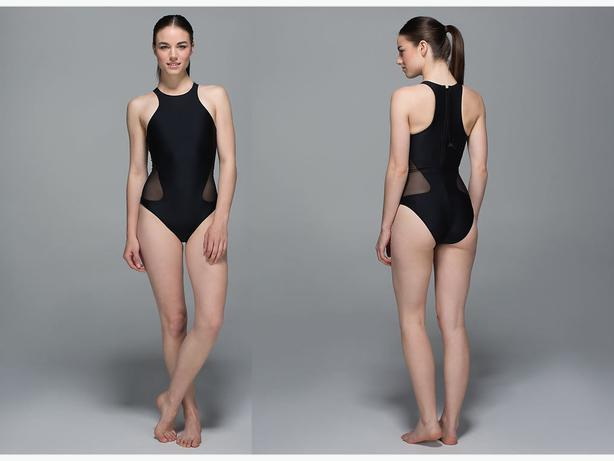 Lululemon Salty Swim Front Racer Bathing Suit