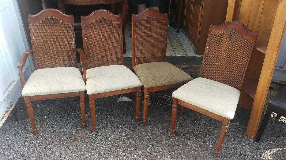 Set Of 4 Solid Wood Dining Room Chairs Central Nanaimo