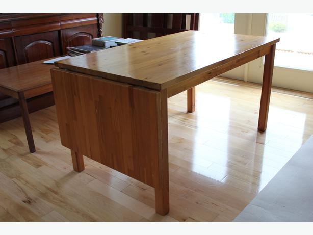 ikea solid wood dining table malahat including shawnigan lake mill