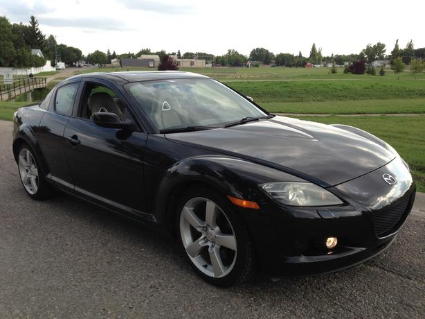 2007 mazda rx8 rx 8 black gt free winter tires north. Black Bedroom Furniture Sets. Home Design Ideas