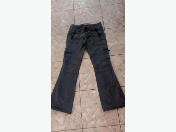 Ladies Grey Cargo Pants, Brand: Garage - Size 7