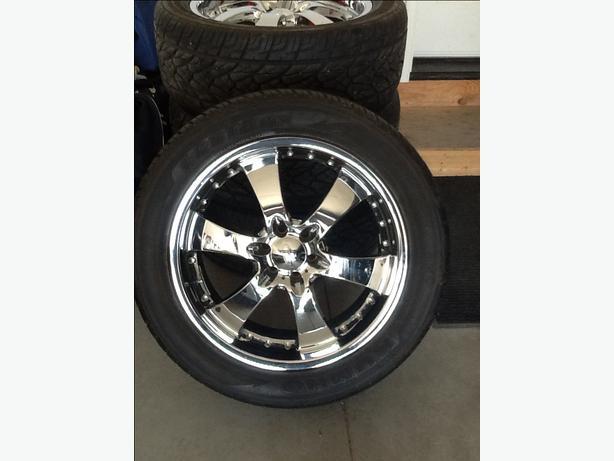 20 chrome wheel and tire package east regina regina. Black Bedroom Furniture Sets. Home Design Ideas